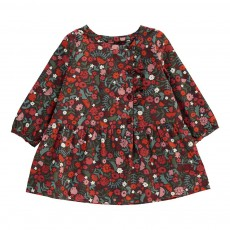 Robe Fleurie Mini Alaya Rouge