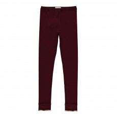Legging Revers Tartan Penny Bordeaux
