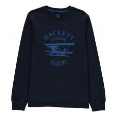 T-Shirt Avion Bleu marine