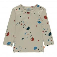 T-Shirt Peinture Multicolore Ecru