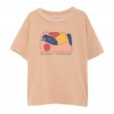 T-Shirt Paysage Rooster MC Beige rosé