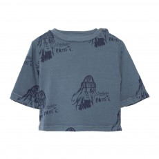 T-Shirt Patti Octopus Bleu gris