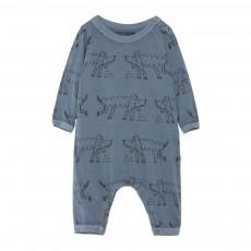 Pyjama Caniches Owl Bleu gris