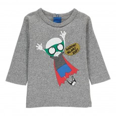 T-shirt Mr Marc Super Héros Bébé Gris chiné