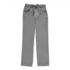 Pantalon Ceinture Jersey Gris
