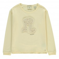 "Sweat ""R"" Brodé Ecru"