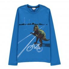 T-shirt Dinosaure Moby Bleu électrique