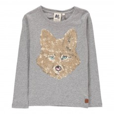 T-Shirt Renard Gris chiné clair