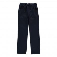 Pantalon Ceinture Jersey Bleu marine