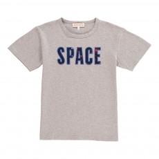 """T-Shirt """"Space"""" Etoiles Lou Gris chiné clair"""