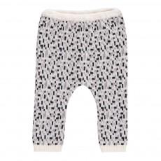 Pantalon Motifs Géométriques Gris