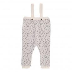 Pantalon Bretelles Motifs Géométriques Gris clair
