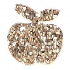 Broche Pomme Paillettée Lantoinette Doré