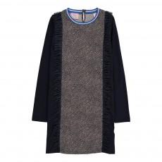 Robe Pois Franges Bleu nuit