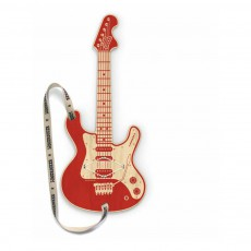 Guitare en bois connectée MP3 Woodrocker Rouge