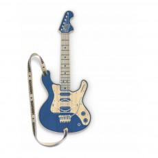 Guitare en bois connectée MP3 Woodrocker Bleu