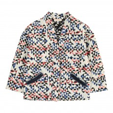 Veste Matelassée Triangles Kimo Blanc