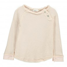 T-Shirt Boutons Epaule Lenny Ecru