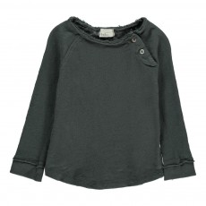 T-Shirt Boutons Epaule Lenny Gris anthracite