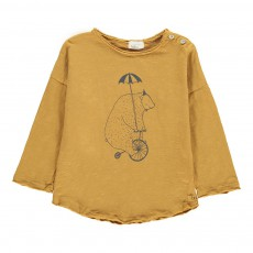 T-Shirt Ours Vélo Bear Ocre