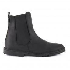 Boots Chelsea Cuir Zippées Noir