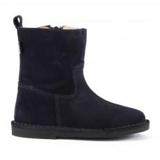 Boots Suède Zippées Bleu marine
