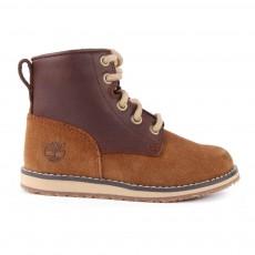Boots Cuir et Suède Zippées Newmarket Marron