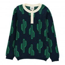 Pull Cactus Arizona Dream Bleu marine