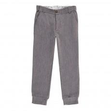Pantalon Rayé Ono Gris