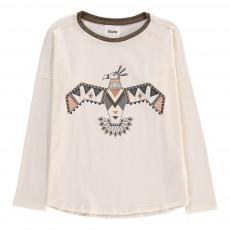 T-Shirt Totem Indien El Condor Ecru