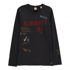 "T-Shirt ""Alrighty 81"" Gris anthracite"