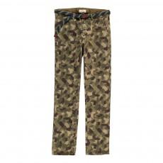 Chino Slim Camouflage Vert kaki