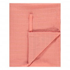 Lange-plaid 120x120 cm en gaze de coton Rose