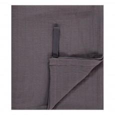 Lange-plaid 120x120 cm en gaze de coton Charbon