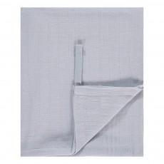 Lange-plaid 120x120 cm en gaze de coton Bleu ciel