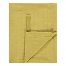 Lange-plaid 120x120 cm en gaze de coton Jaune moutarde