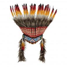 Coiffe d'indien à plumes Multicolore