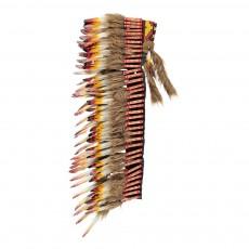 Coiffe d'indien à plumes ado 90 cm Multicolore