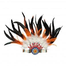 Bandeau d'indienne à plume Multicolore