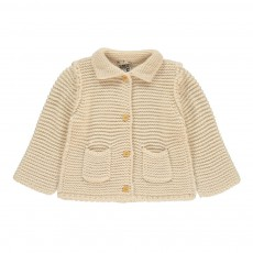 Cardigan Alpage Point Mousse Ecru
