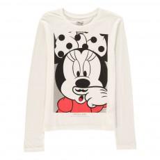 T-Shirt Minnie Moustache Minash Blanc