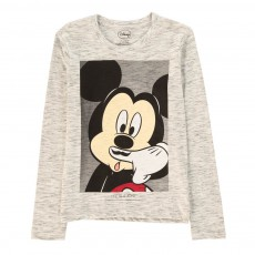 T-Shirt Mickey Moustache Mikash Gris chiné