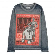 T-Shirt Dévoré R2D2 Bleu gris