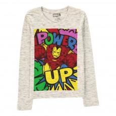 T-Shirt Power Up Gris chiné