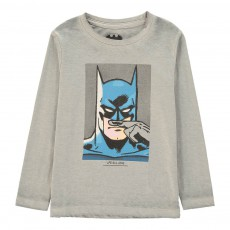 T-Shirt Batman Moustache Bat Gris