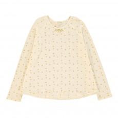 T-Shirt Triangles Lurex Plume Ecru
