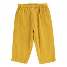 Pantalon Velours Futur Jaune
