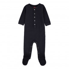 Pyjama Col Tunisien Bleu marine