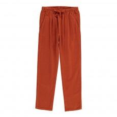 Pantalon Velours Carnelian Rouille