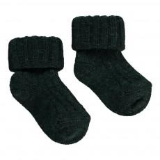 Chaussettes Côtelées Bébé Vert sapin
